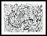 Framed Art Print 'Number 14:Gray' by Jackson Pollock: Outer Size 33 x 26