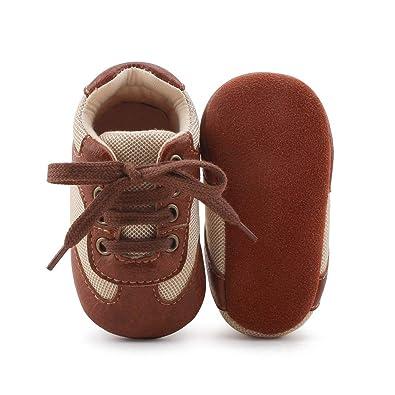 officiel enfant grande remise DELEBAO Chaussons Bébé Cuir Souple Chaussure Cuir Bébé Chaussures Premiers  Pas Chaussure de Marche Bébé Bottine Bébé