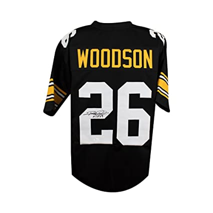 Image Unavailable. Image not available for. Color  Rod Woodson HOF  Autographed Steelers Custom Black Football Jersey - JSA ... 8a20d7521