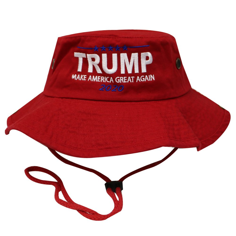 Bd2024 Bold Trump Make America Great Again Bucket Hat W/String Red