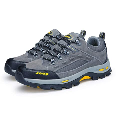Hombres Senderismo Trekking Zapatos Hombres Zapatillas De Deporte Zapatos Para Caminar Anti-Slip Escalada Zapatillas