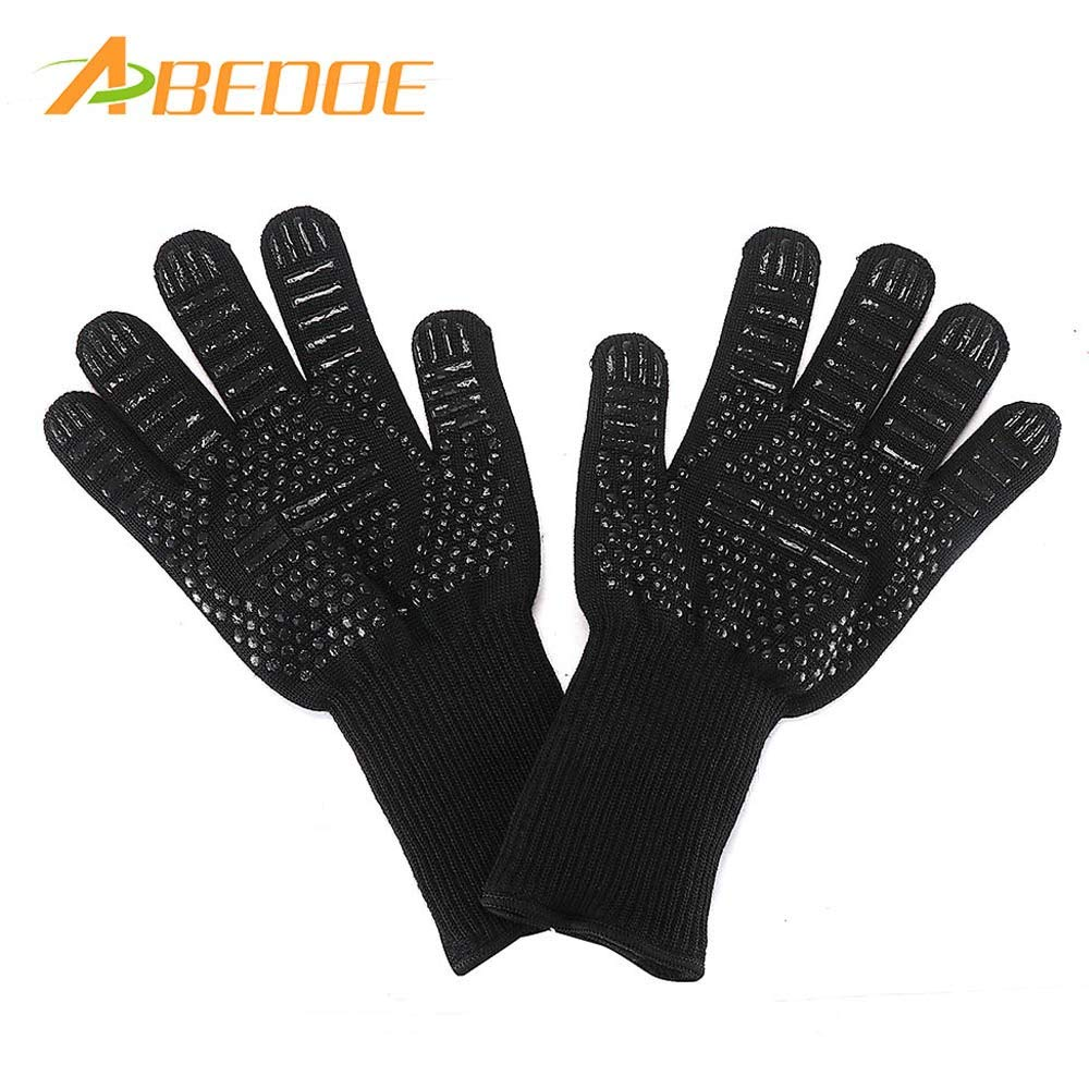 Oven Mitts & Oven Sleeves - 2pcs Pack Barbecue Glove With Silicone Particle Practical And Comfortable Heat Resistant Mitt - Disposable Gloves Heat Resistant Claws Mitts Pulled Oven Resist by CoCo LaLa (Image #1)