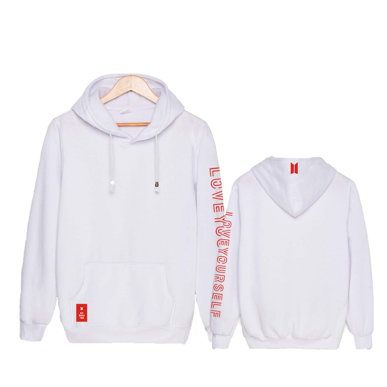 Qaedtls Kpop BTS Love Yourself Cardigan Sweater Jungkook Jimin Suga V Long Sweaters Coat