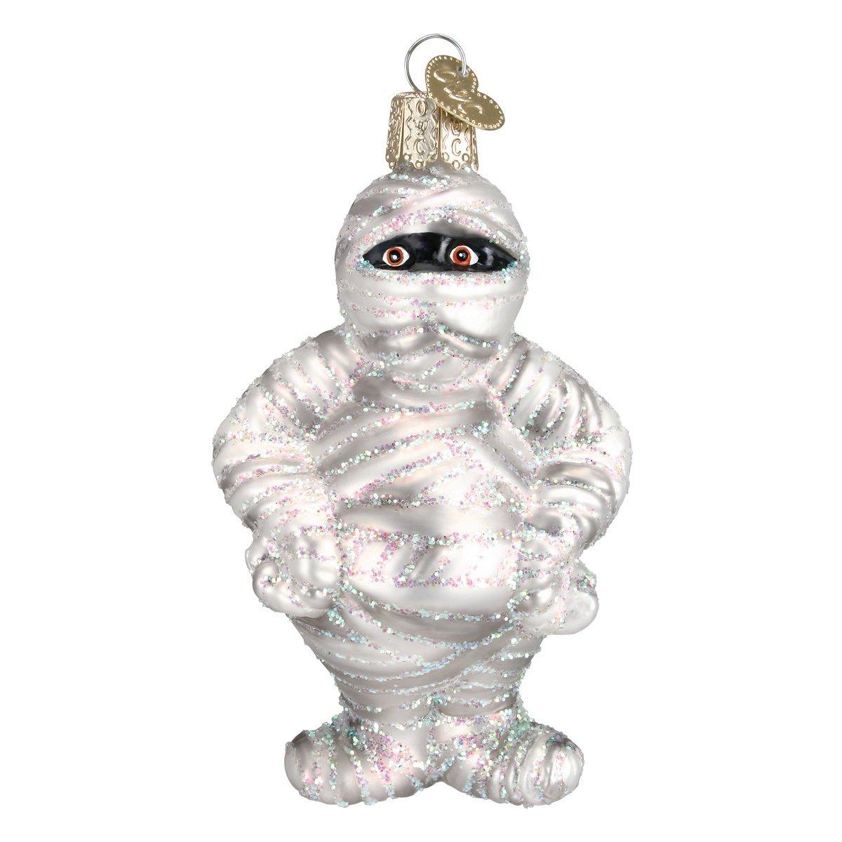 Amazon.com: Old World Christmas Mummy Glass Blown Ornament: Home ...