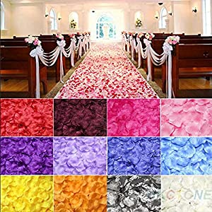 Wedding Rose - 100pcs Lot Wedding Decorations Fashion Atificial Flowers Silk Polyester Rose Petals Patal - Jewelry Ivory Blush Champagne Coral Theme Bride Bracelet Decoration Petals Sets Table 33