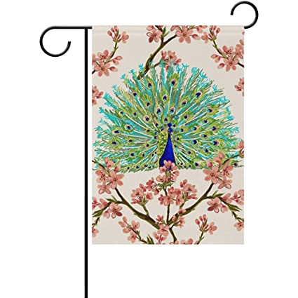 Amazon com : Staroind Peacock Japanese Flowers Double-Sided