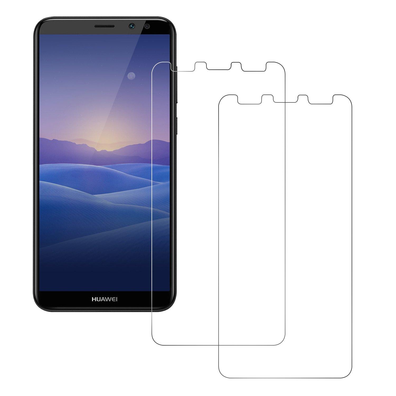 Huawei compañero 10 Lite Cine de vidrio templado, POOPHUNS 2 10 paquete protector de la pantalla del compañero Huawei Lite (bordes redondeados de 2,5D), vidrio templado mate Huawei 10 Lite, Ultra Durable y 9H dureza, alto protector transparente de la pantalla para Huawei compañero Lite 10