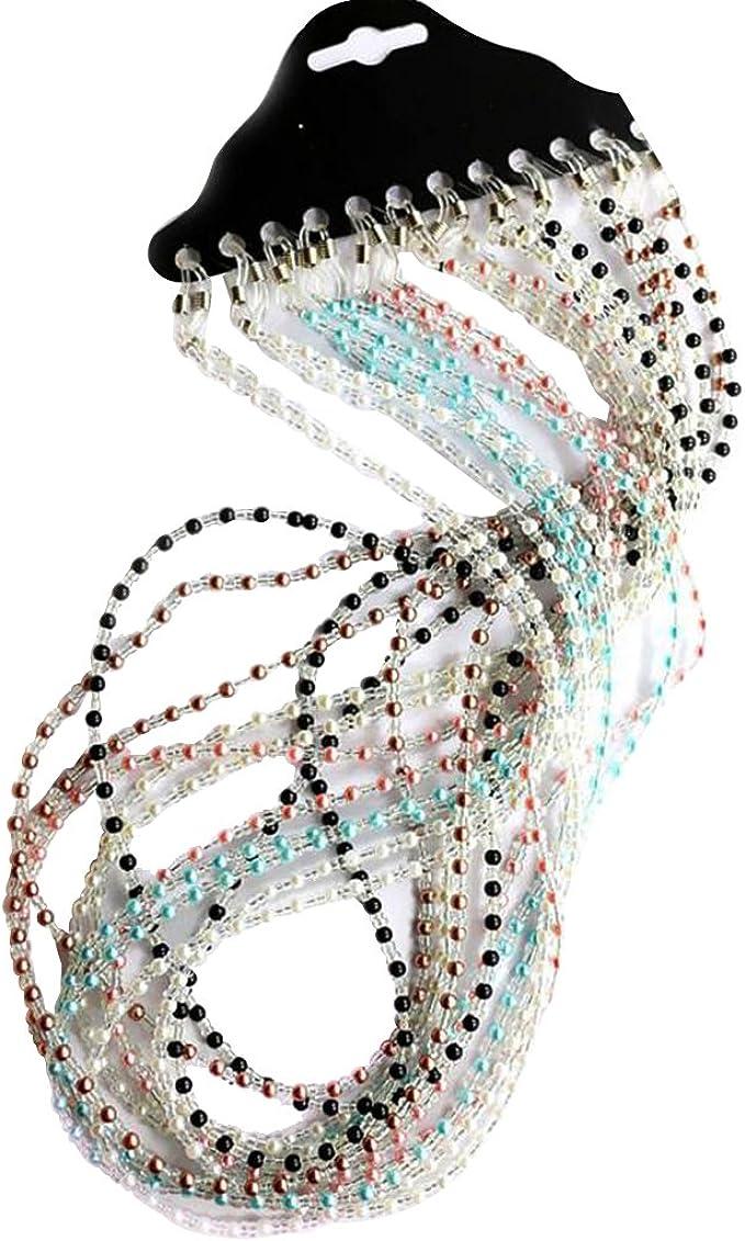 B Blesiya 12pcs Collane di Perla Perline Cordini Catenine Titolare per Occhiali
