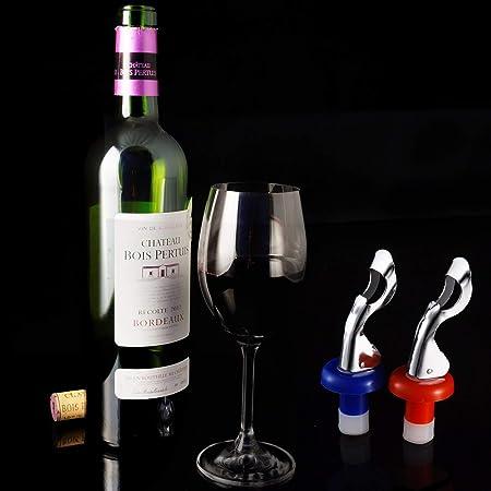 10 Piezas Tapones de Vino de Silicona Manual de Tapón de Botella de Vino Botella de Vino Corcho Bebidas Tapones de Botellas para Suministros de Bebidas de Vino