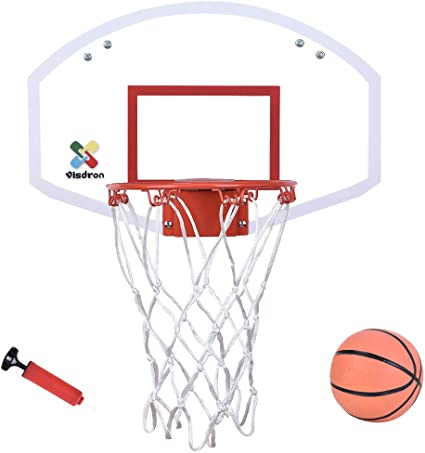 Mini Indoor Basketball Board with Net Hoop Ball Pump Set Kids Child Playing Toys