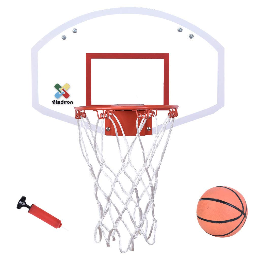 Rigel7 Mini Basketball Hoop Over-The-Door Wall Basketball Backboard Indoor Outdoor Sports Exercise Set for Toddlers Kids Child Youth Boys Girls Office Sport Toys by Rigel7