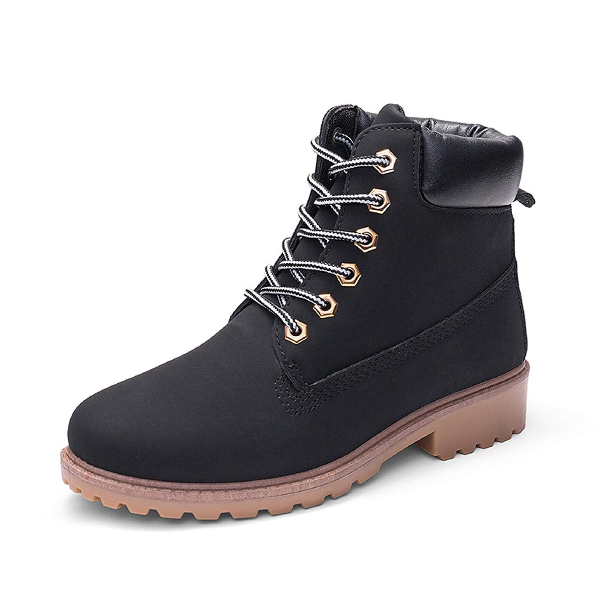 9ea6ec27160 VFDB Womens Fashion Work Shoes Winter Ankle High Lace Up Combat Military  Boots