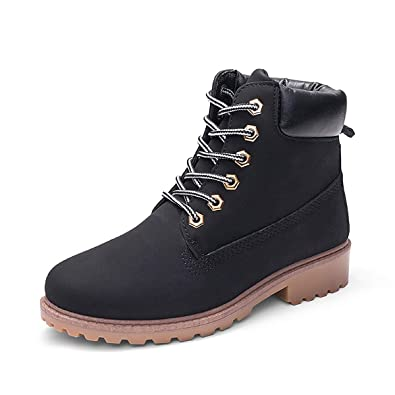 c1c39515fb103 VFDB Womens Fashion Work Shoes Winter Ankle High Lace Up Combat Military  Boots