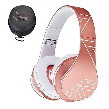 PowerLocus P2 – Auriculares Bluetooth inalambricos de Diadema Cascos Plegables, Casco Bluetooth con Sonido Estéreo Micro SD/TF, FM con micrófono y ...