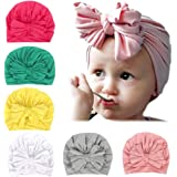 Adeimoo Baby Girl Hats Soft Cute Turban Head Wrap Knot Caps for Toddler Kids