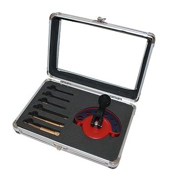 Profi Fliesenbohrkronen Set Vakuum 4-teilig Fliesen-Bohrer Set im Koffer
