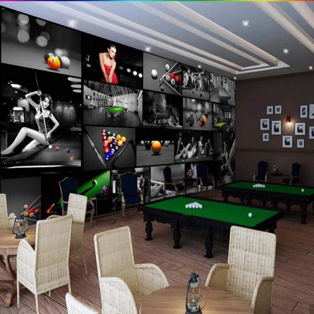 NXMRN Sala De Billar Mesa De Ping Pong Sala 3D Papel Tapiz ...