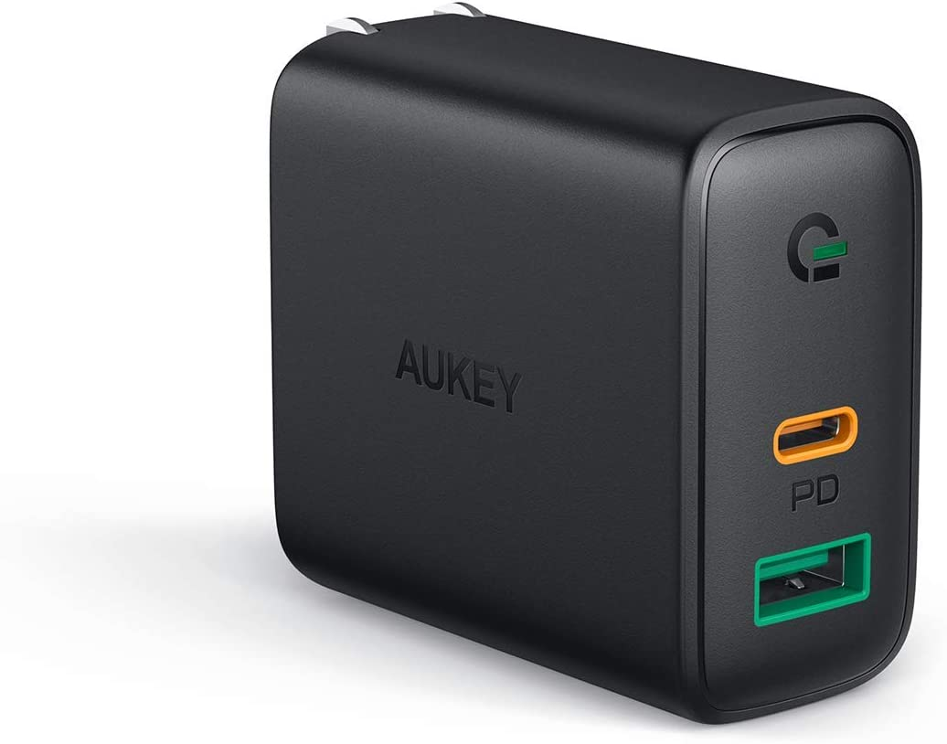 AUKEY USB C Charger 30W MacBook PD Charger with Power Delivery 3.0 /& Dynamic Detect Airpods Pro and More Compatible with iPhone 11//11 Pro//Max//XS Pixel 3 // 3XL PD Wall Charger Dual Port