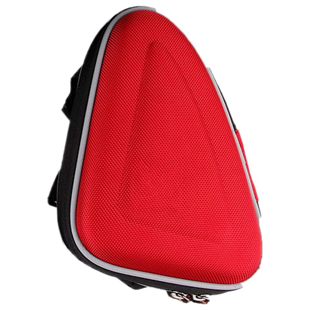 Minions Boutique - Bolsa de Almacenamiento para Bicicleta, diseño de Montura Delantera, con Bolsillo para Herramientas de reparación de Bicicletas, Rojo diseño de Montura Delantera con Bolsillo para Herramientas de reparación de Bicicletas