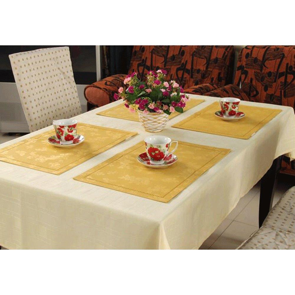 TABLE RUNNER Pride S Oro Europea de Lujo Impermeable Tallada Mesa Runner Hotel Placemat Mantel (Tamaño : 33  48cm)