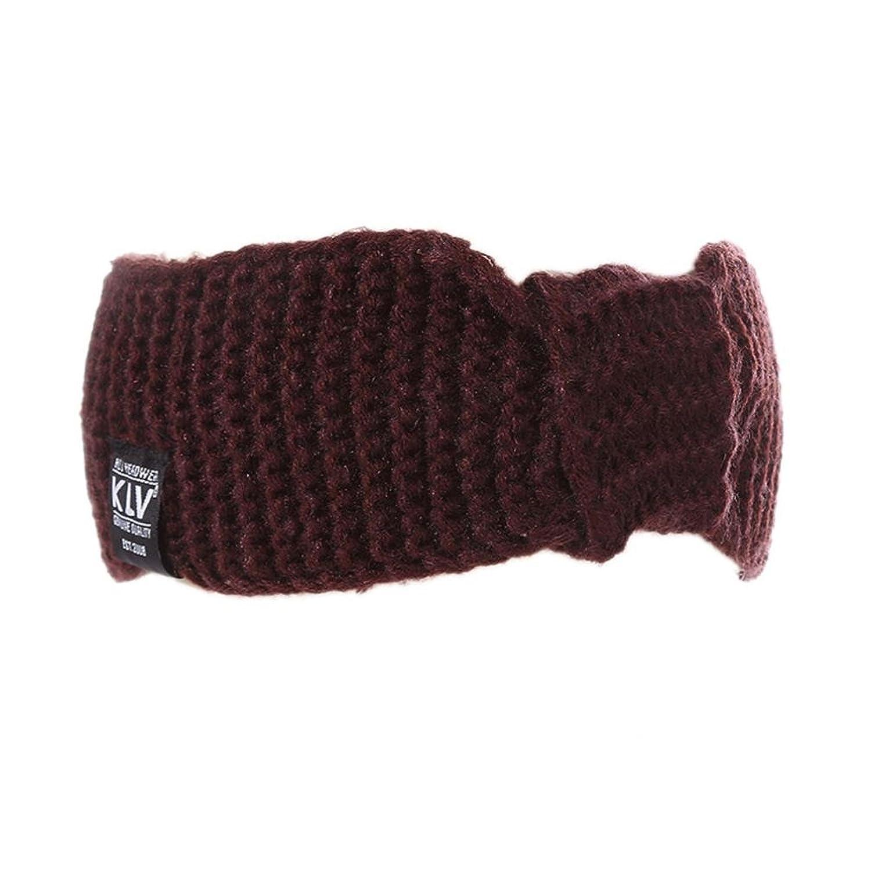 Deamyth Winter Women Girl Knitting Wool Headband Bow Hairband