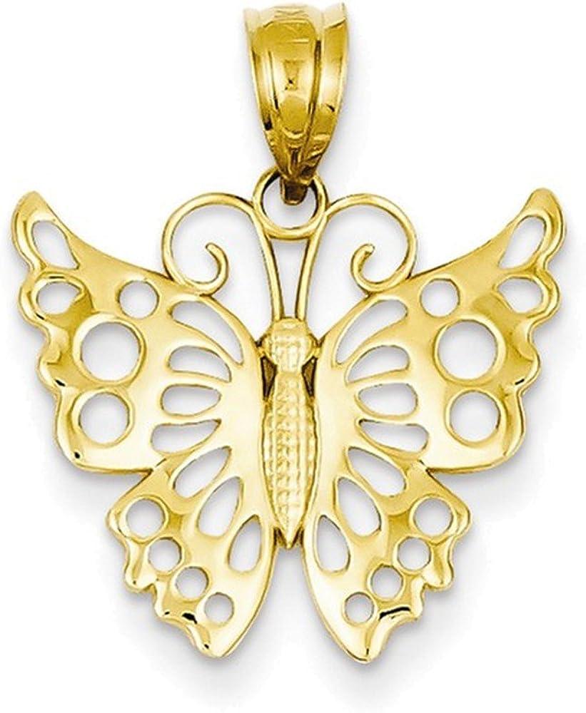 14k Butterfly Pendant