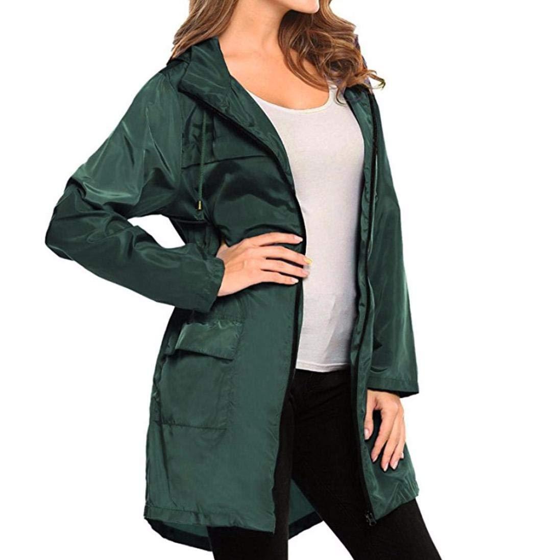 Jacket Womens,Gillberry Lightweight Travel Waterproof Raincoat Hoodie Windproof Hiking Coat