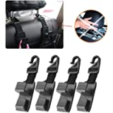 Car Seat Headrest Hooks, Universal Backseat Headrest Hanger for Handbags Purses Coats and Grocery Storage Bags, Car Seat…