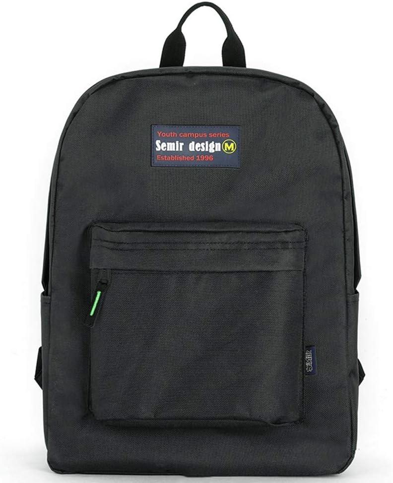 Color : Black Black, Red, Yellow Casual Campus Simple College Backpack High School Unisex Waterproof Travel Bag HS-01 Female Korean Version of The Backpack