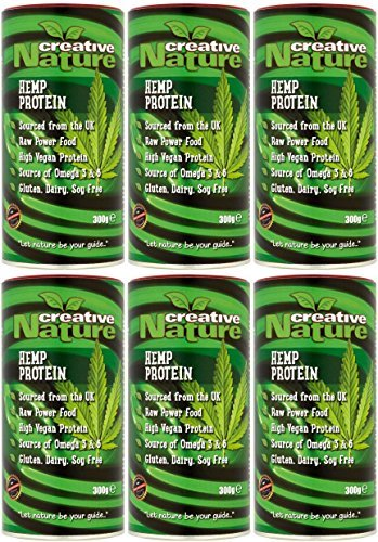 (6 PACK) - Creative Nature - British Hemp Protein Powder | 300g | 6 PACK BUNDLE by Creative Nature by CREATIVE NATURE