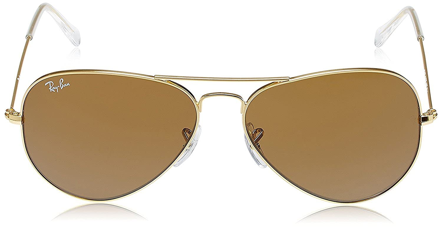 998608e183 Amazon.com  Ray-Ban RB3025 Aviator Sunglasses (62 mm