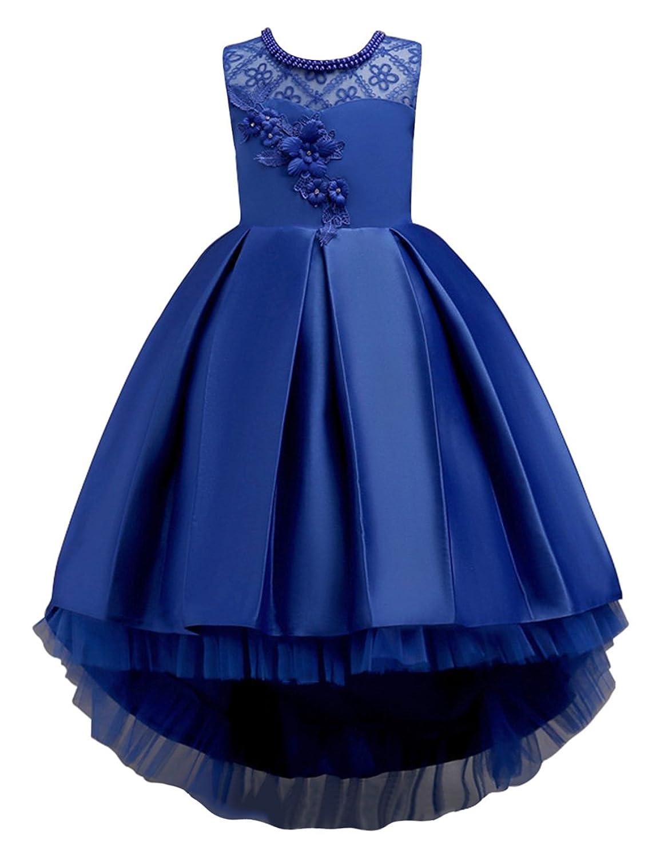 3b7f1e46232ee Robe Demoiselle Fille Enfant Princesse à Fleurs avec Ceinture pour Mariage  Cérémonie par ...