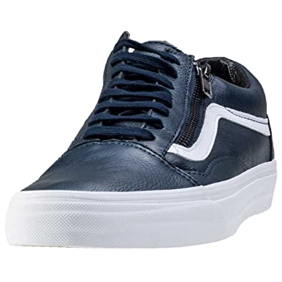 3c10190fa7d87a Vans Mens Dress Blue True White Old Skool Zip Trainers  Amazon.co.uk  Shoes    Bags