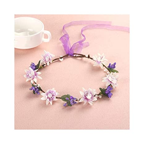 Qqzmd Yam Flower Wreath Ladies Garland Diadema Boho Corona ...
