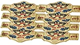 16 piece World Wrestling Champ Gold Kids Plastic Party Belts