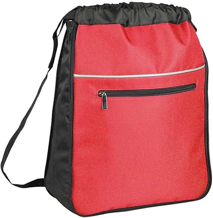 Drawstring Backpack Dog Bone Red Gym Bag