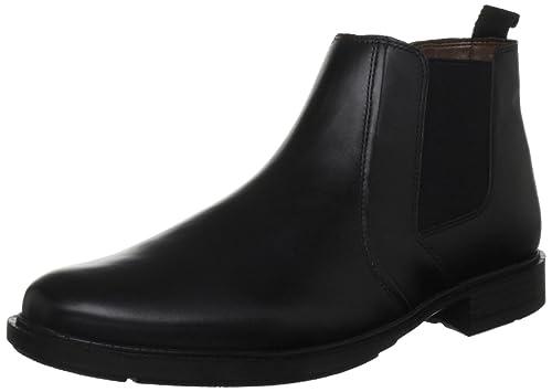Hush Puppies Mens Courtland 3 Black Chelsea Boots H13187000 8 UK, 42 EU