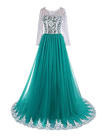 Amazon Dingzan Lace Long Sleeves Ball Prom Quinceanera Dress