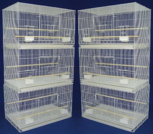 Mcage Lot of Breeding Flight Bird Cage for Aviaries Canaries Budgies Finches Lovebird Parakeet