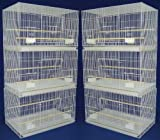 Lot of 6 Aviary Breeding Bird Finch Parakeet Finch Flight Cage 24'' x 16'' x 16'' White