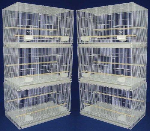 Mcage Lot of 6 Aviary Breeding Bird Finch Parakeet Finch Flight Cage 24