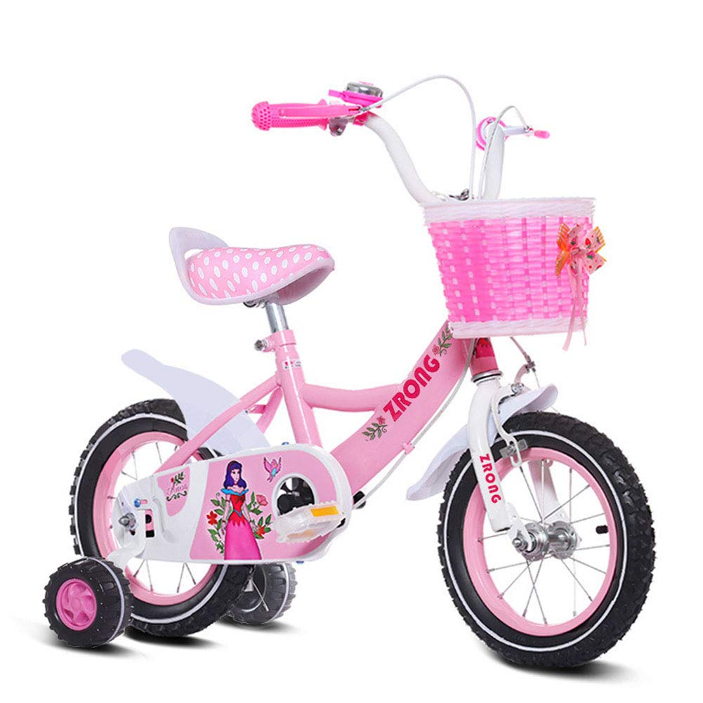 Pink 18IN 1-1 12  14  16  18  Kids bike Girls with alloy kickstand V-brake and backpedal brake   as from 2 years   BMX Edition