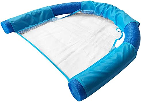 Seasaleshop Piscina de flotación colchoneta Piscina Colchoneta Hinchable de la Piscina, PVC + Malla de Nylon Hinchables Juguete para Adultos Niños de Agua Fiesta Playa Lago Natación: Amazon.es: Deportes y aire libre
