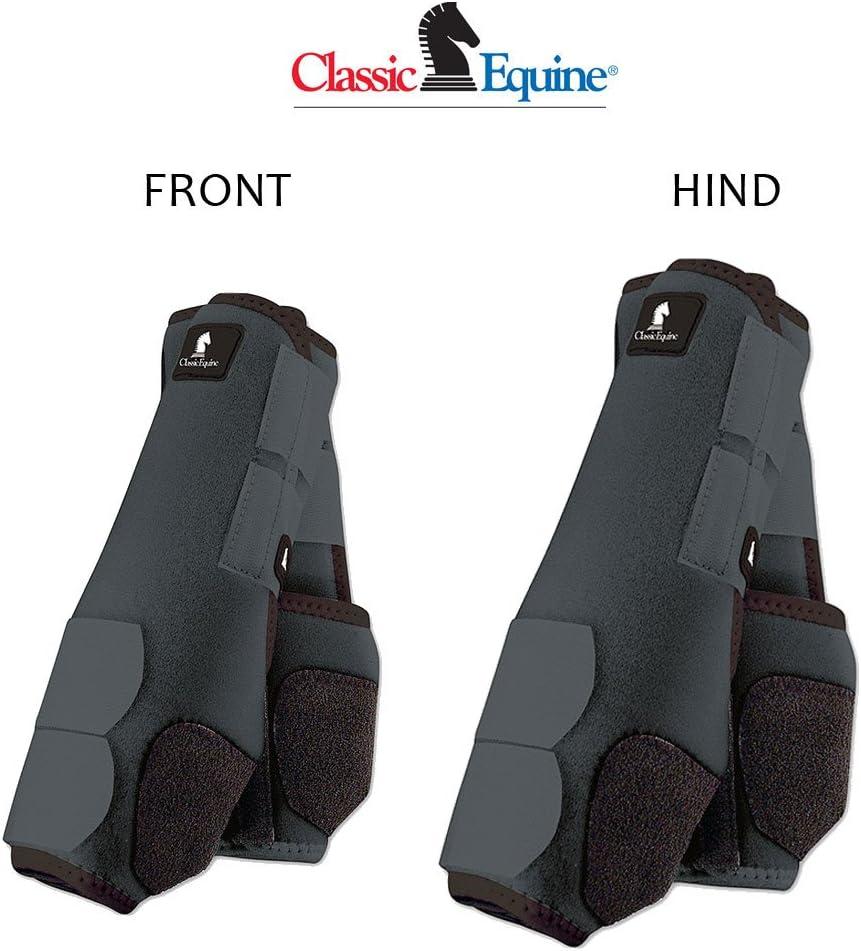 4パッククラシックEquine Legacyシステム前面背面Hind HorseスポーツブーツLrg/Med/SMLすべてのカラー STEEL グレー Medium