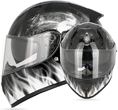 casque moto tête de mort 3