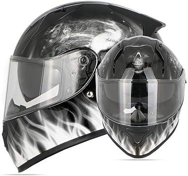 Casque moto tête de mort 5