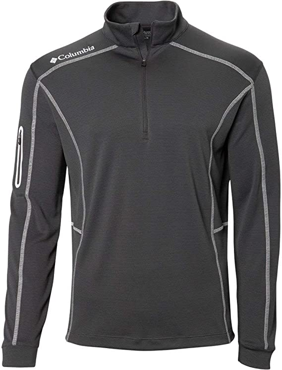 Columbia Mens Omni-Wick Shotgun 1/4 Zip Golf Pullover
