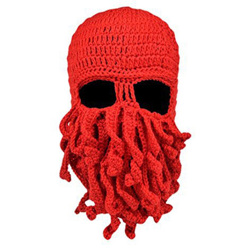 Neevas Unisex Octopus Winter Warm Knitted Wool Ski Face Mask Squid Cap Beanie NV1008B