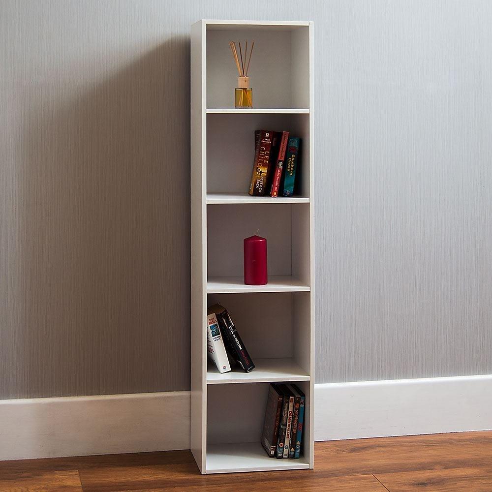 Oxford Cube Bookcase 2 3 4 5 Tier Shelf Display Wood Furniture Storage Black