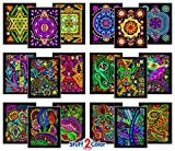 Super Pack of 18 Fuzzy Velvet 8×10 Inch Coloring Posters (Dynamic Edition)